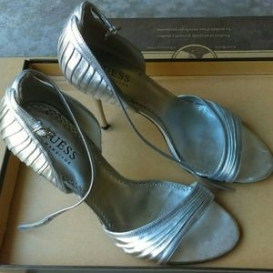 Guess by Marciano silver stiletto heels